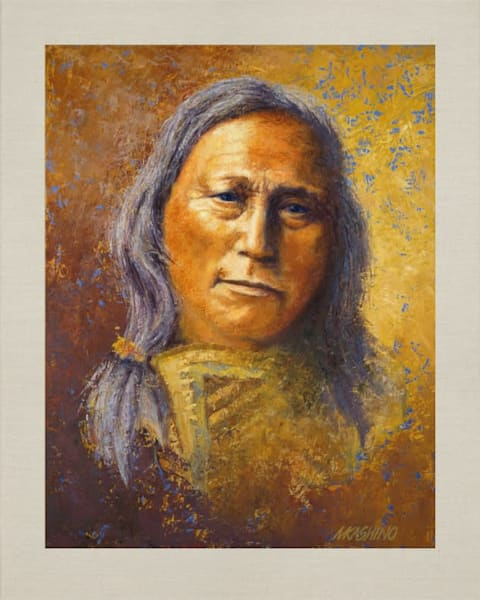 Hollow Horn Bear, Sioux, Native Americans, American Indians, Portraits, Oil Paintings, Mark Kashino