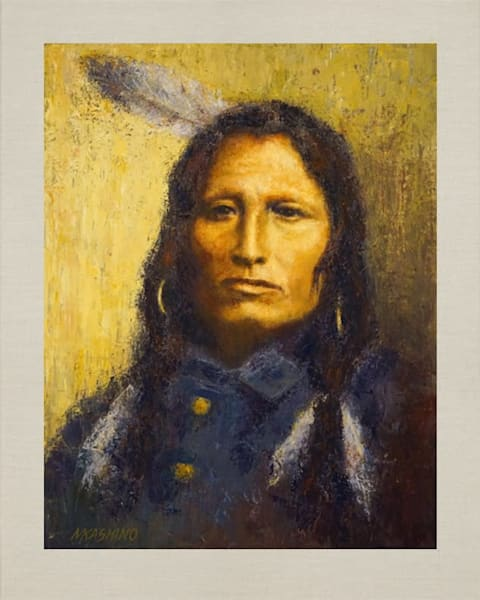 Jumping Thunder, Igmu Yanktons, Native Americans, American Indians, Portraits, Oil Paintings, Mark Kashino