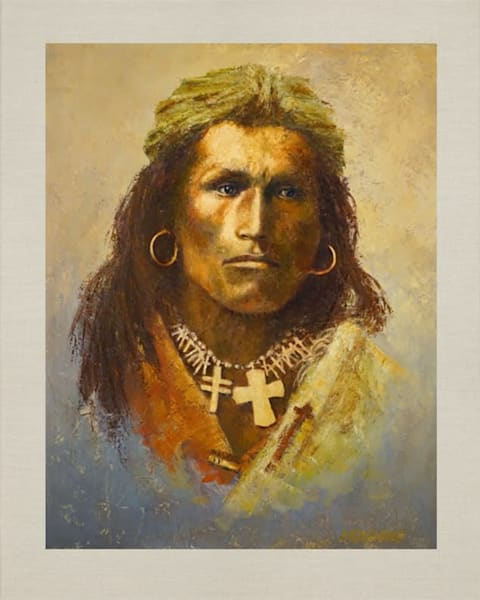 Tom Torlino, Sioux, Native Americans, American Indians, Portraits, Oil Paintings, Mark Kashino