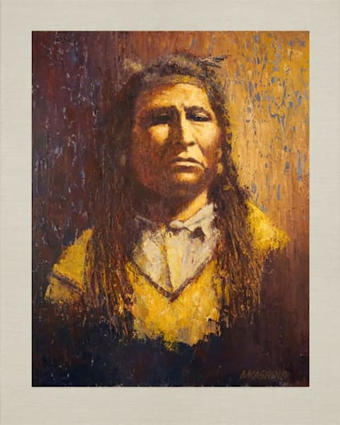New Chest, Blackfoot, Native Americans, American Indians, Portraits, Oil Paintings, Mark Kashino