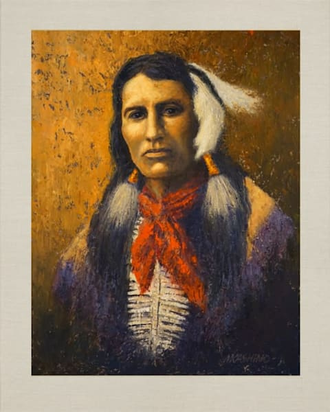 Yellow Shirt, Cheyenne, Native Americans, American Indians, Portraits, Oil Paintings, Mark Kashino