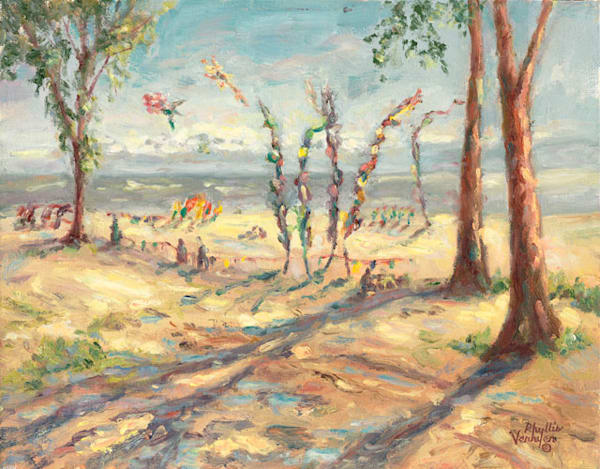 Two Rivers Kite Fest fine art print by Phyllis Verhyen.