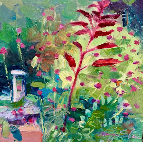 Barnes Foundation Red Amaranth Plein Air Oil Painting