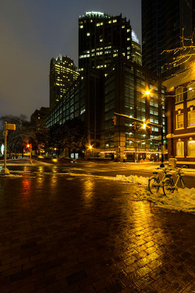 A Fine Art Photograph of Downtown Charlotte at Night by Michael Pucciarelli