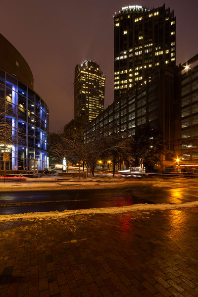 A Night in Downtown Charlotte Fine Art Photograph by Michael Pucciarelli