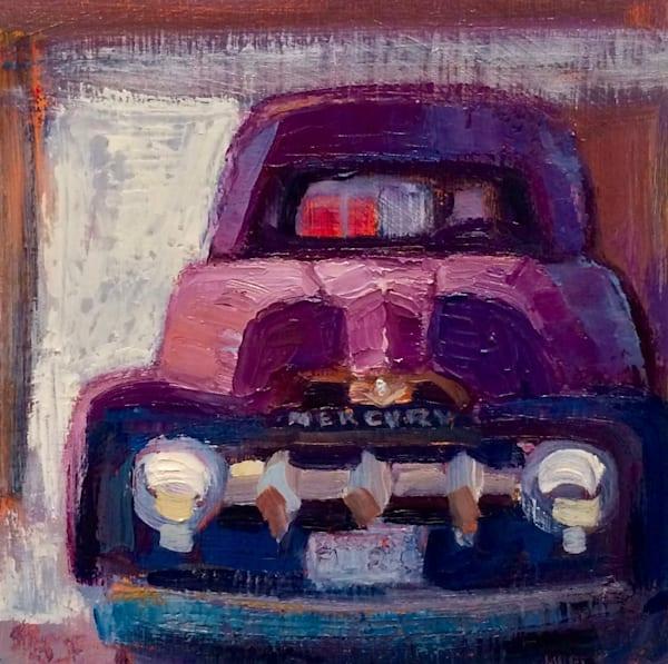 Vintage Mercury Truck Plein Air Oil Painting