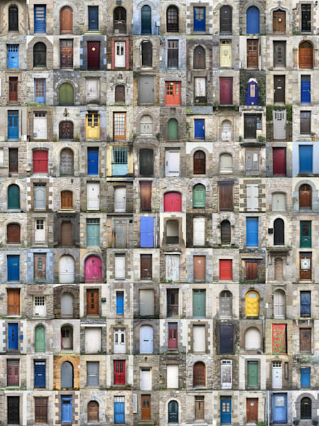 144 doorways in Brittany, France