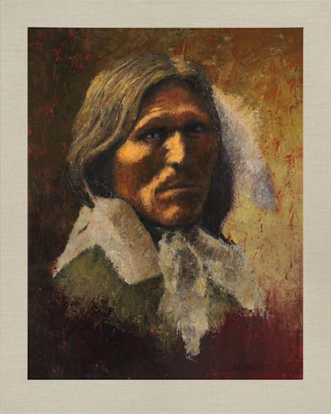 Goose Face, Oglala Lakota, Native Americans, American Indians, Portraits, Oil Paintings, Mark Kashino