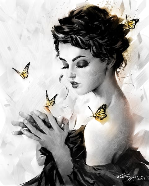 Butterflies 03 - Fine Art by Vahe Grigorian Los Angeles Artist - Digital Prints available for HD Acrylic,Paper, Canvas, Metal and more.custom art, digital portrait, portraits , art for sale