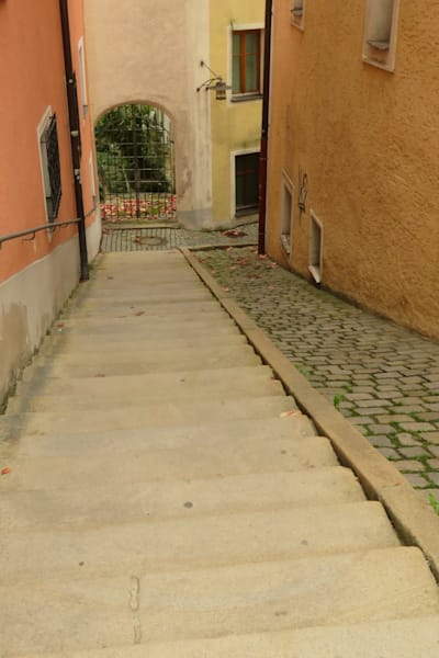 Steep Stairway in Passau, Germany IMG 1073