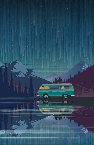 original retro camping and automotive art by Sassan Filsoof. Available as fine art prints. Click to purchase.