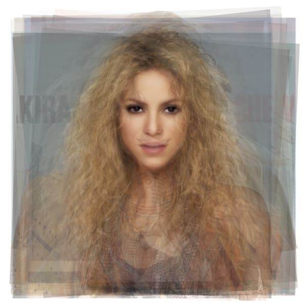 Overlay art – contemporary fine art prints of singer Shakira