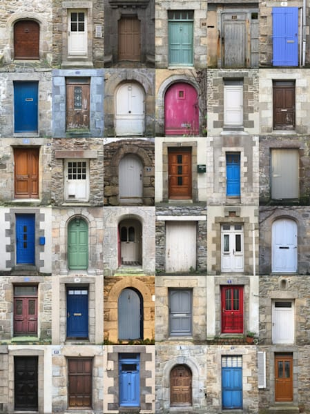 Brittany, France doorway grid 36 #2