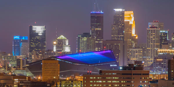 Minneapolis Super Bowl Colors - Art for Sale | William Drew