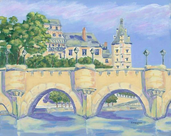 Bridges of Paris fine art print by Barb Timmerman.