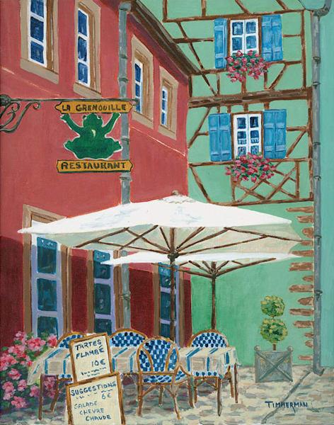 La Grenouille fine art print by Barb Timmerman.