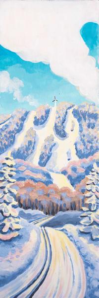 """Pond Loop I"" - Bolton Valley Vermont Ski Art for Sale"