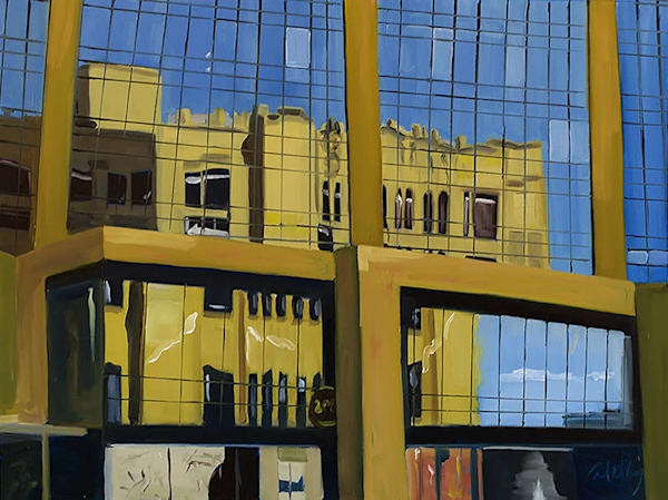 Landmark Center Reflected painting by Paul William | Fine Art for Sale