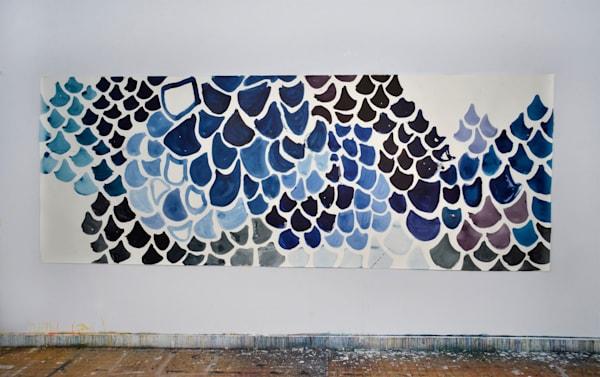 Blue Mural Art | Caroline Wright Art