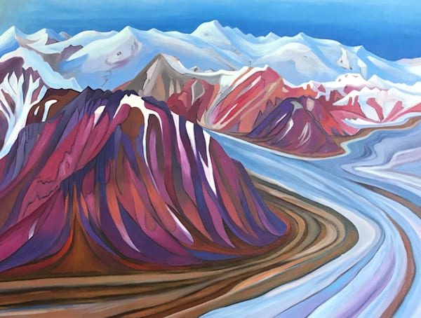 Kaskawulsh Glacier | Original Oil Painting | Emma Barr Fine Art