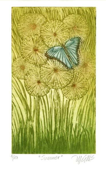 Summer - aquatint etching