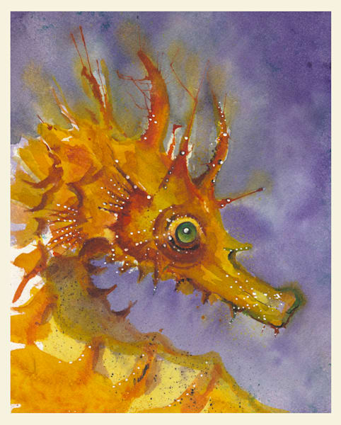 Green Eye seahorse at boudreau-art.com