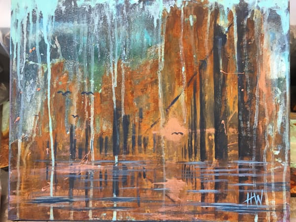 There Will Come Soft Rains, original abstract landscape painting