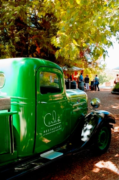 Green Truck at Russian River Winery Sonoma County