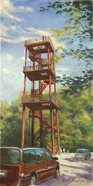 Eagle Tower fine art print by Rick Brawner.