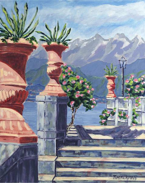 Lake Como Waterfront fine art print by Barb Timmerman.
