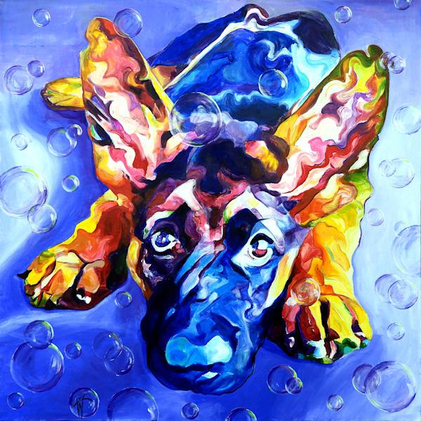 'Marvel' Dog Painting | Art Print of Dog