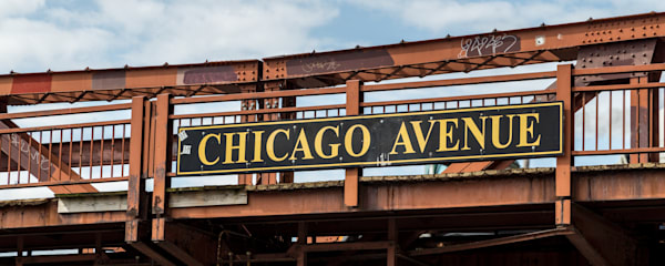 Chicago Avenue Bridge, Chicago, Illinois, USA