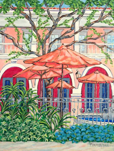 Courtyard Paradise fine art print by Barb Timmerman.