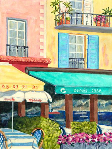 Le Dejeuner en Villefranche fine art print by Barb Timmerman.