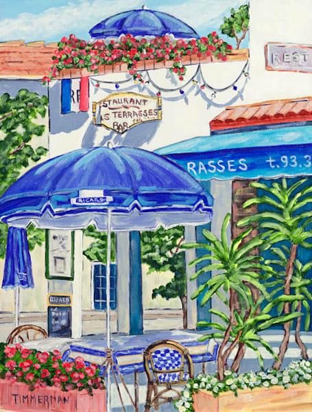 Le Dejeuner en Eze fine art print by Barb Timmerman.