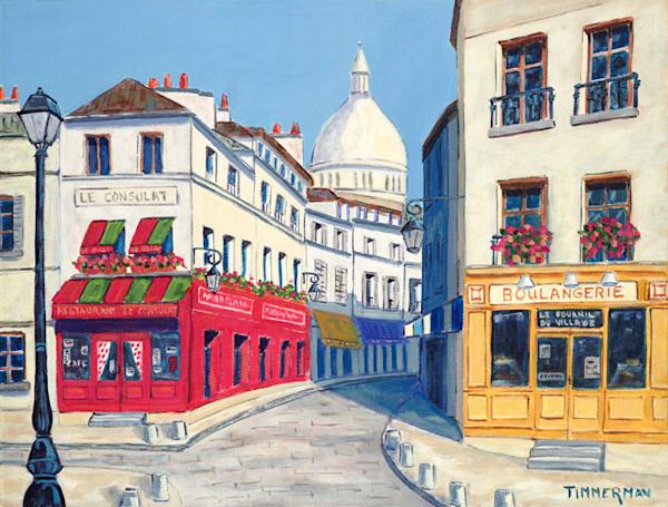 Montmartre fine art print by Barb Timmerman.