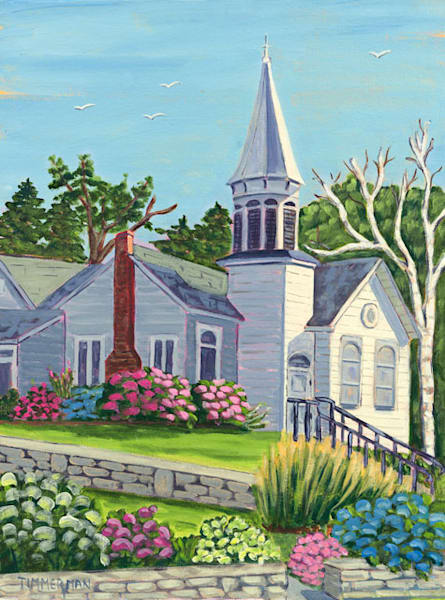 Moravian Church fine art print by Barb Timmerman.