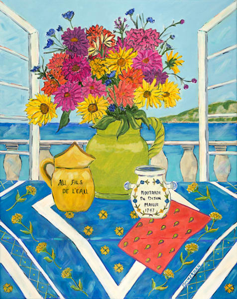 Le Balcon fine art print by Barb Timmerman.