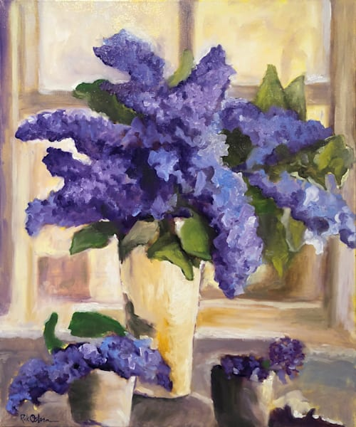 Purple Lilacs | Fine Art Painting Print by Rick Osborn
