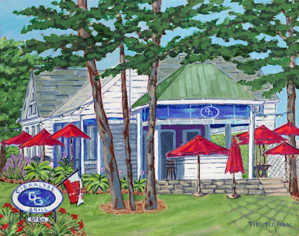 Gibraltar Grill fine art print by Barb Timmerman.