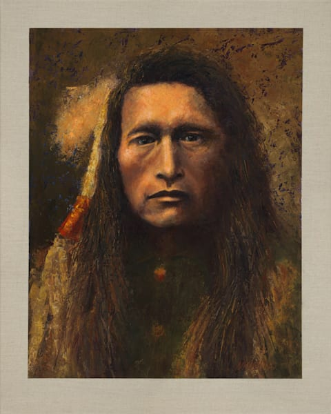 Young Kutenai, Native Americans, American Indians, Portraits, Oil Paintings, Mark Kashino