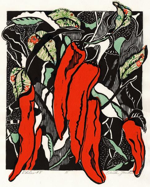 Chiles 8, fine art originals, or prints for sale  Ouida Touchon
