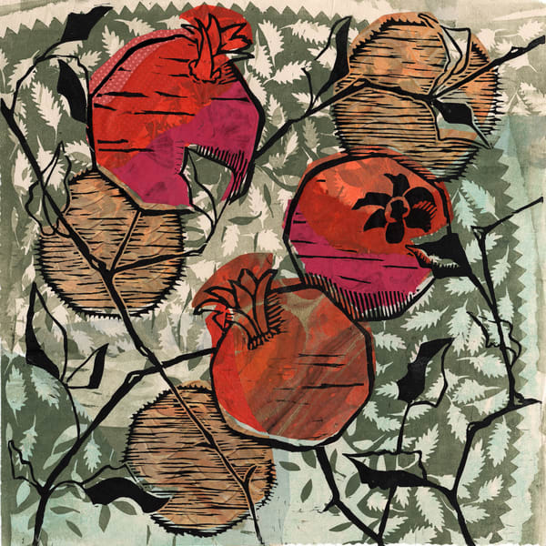Botanical handprints for sale | New Mexico artist Ouida Touchon