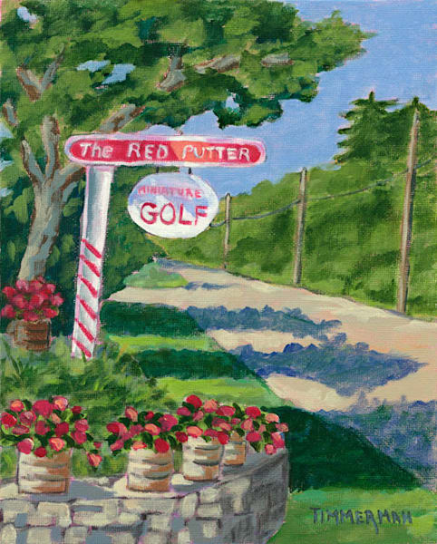 The Red Putter fine art print by Barb Timmerman.