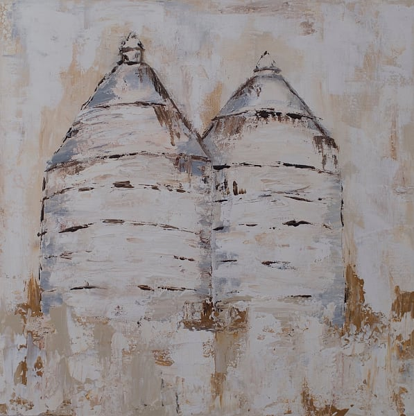 Silos Original Painting by Kelly Berkey | Fine Art Prints