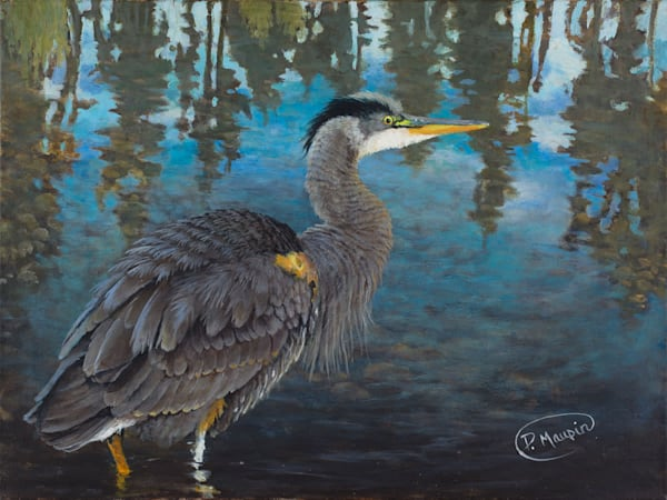 Blue Heron Art by Pete Maupin