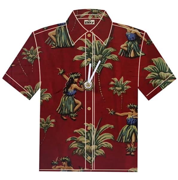 Hula Kahiko Aloha Shirt Clock