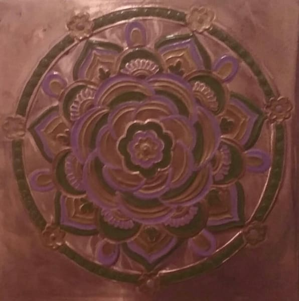copper mandala repoussè