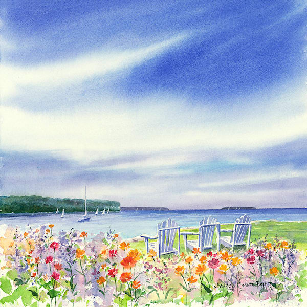 Eagle Harbor View fine art print by Stacey Small Rupp.