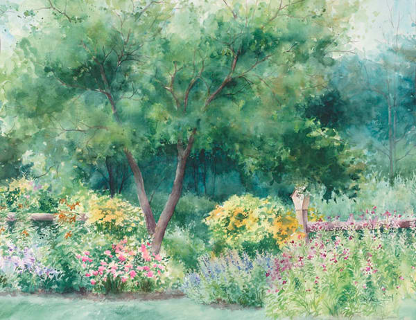 Roadside Garden fine art print by Stacey Small Rupp.